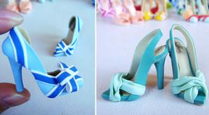 Туфли из полимерной глины