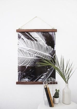 Негативное фото пальмы