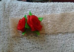 Повязочка с розами из