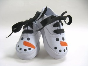 Кеды-снеговики