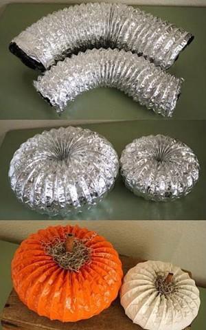 Тыквы из вентиляционных труб
