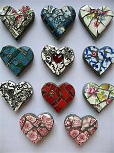 Мозаичные сердца