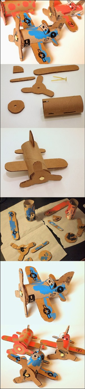 Картонный самолётик
