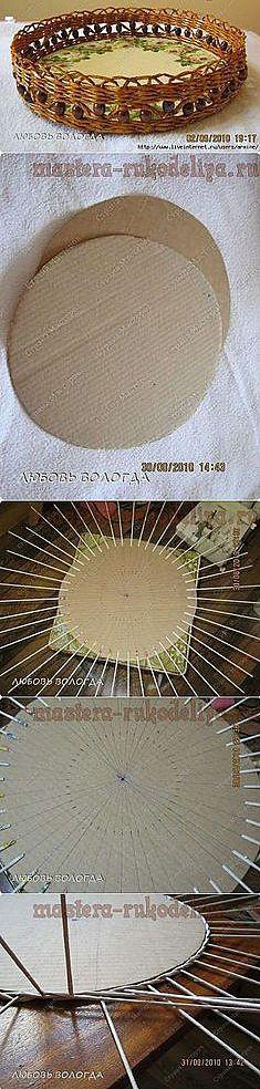 Поднос в технике плетения