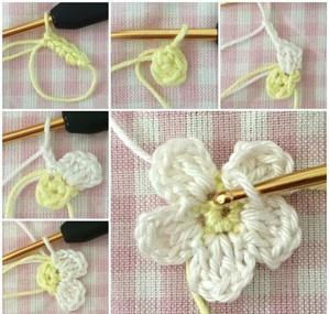 Вязание цветочка