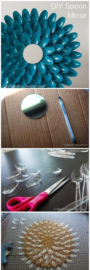 Рама для зеркала из ложек