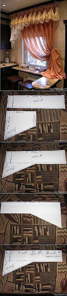 Схема шитья ламбрекена