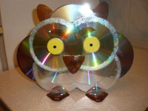 Сова из дисков