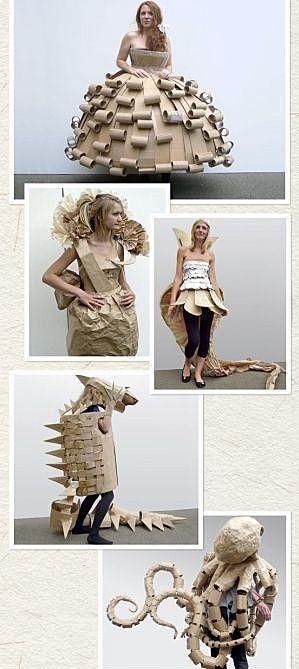 Платье из картона