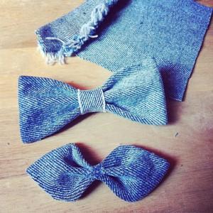 Джинсовый галстук-бабочка