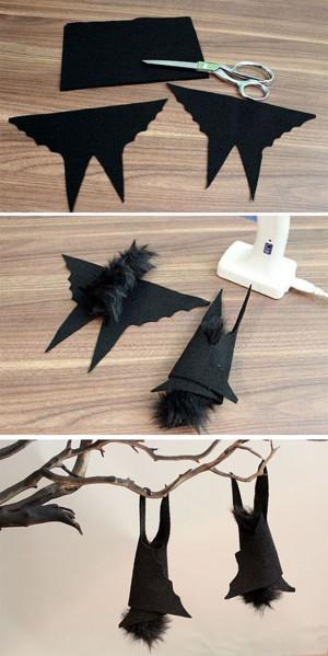 Летучие мыши из ткани и меха