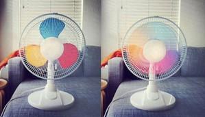 Цветные лопасти вентилятора