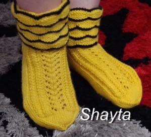 Ажурные носочки.