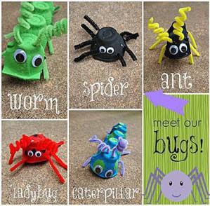 Жуки, пауки и гусеницы