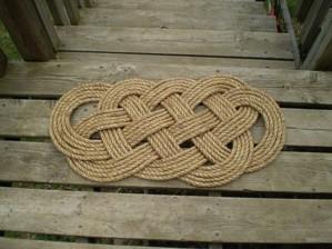 Коврик из верёвки