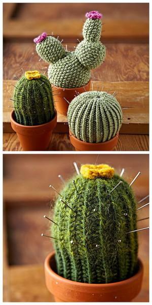 Булавки-колючки вязанных кактусов