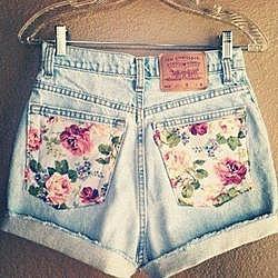 Романтичные джинсовые шорты