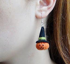 Нестрашные серьги на Хэллоуин