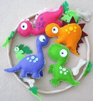 Фетровые динозавры