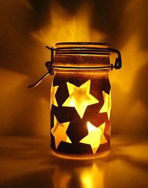 Светильник со звёздами