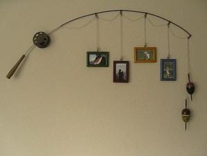 Декор из удочки и фотографий