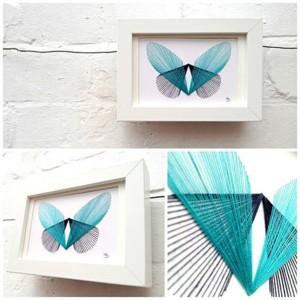 Бабочка из ниток