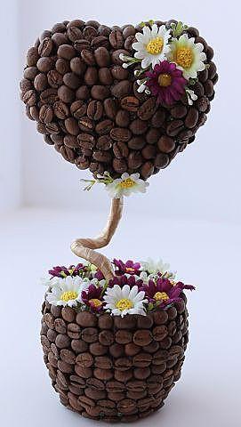 Топиарий с кофейными зернами
