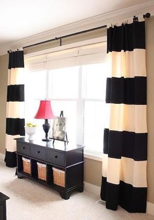 Чёрно-белые шторы