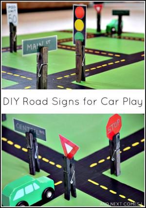 Дорожные знаки из картона