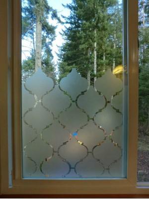 Непрозрачная плёнка на окне