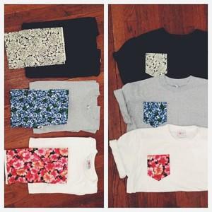 Нагрудные карманы для футболок