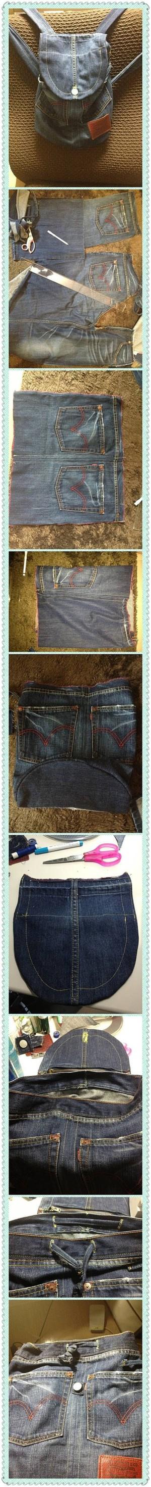Простой джинсовый рюкзак