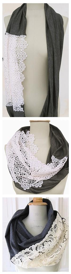 Кружевная вставка для шарфа