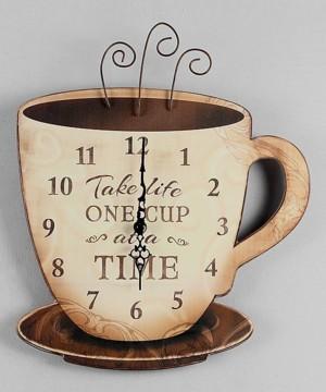Часы кофейная чашка