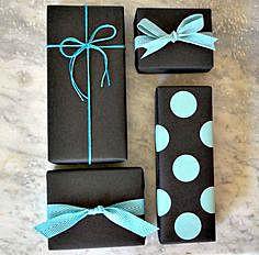 Чёрные с голубым упаковки