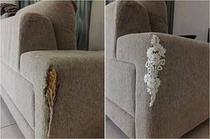 Заплатка на мягкой мебели