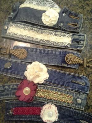 Джинсовые браслеты