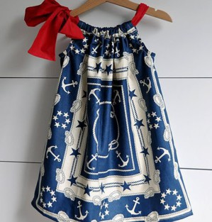 Морское платье