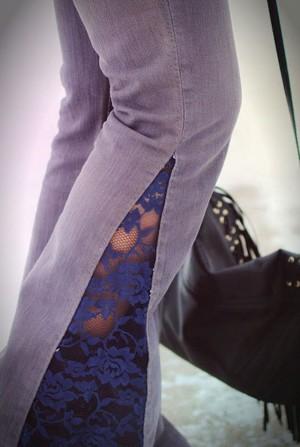 Вставка на скучных брюках
