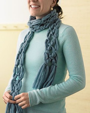 Плетённый шарф