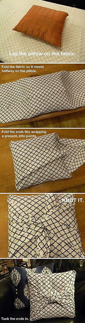 Подушка, завёрнутая в ткань