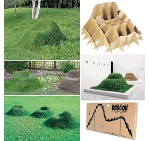 Сиденье из газонной травы