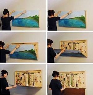 Картина–шкафчик для бижутерии