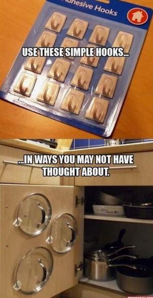 Крючки для хранения крышек