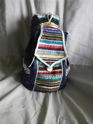 Хиповый рюкзак из джинсов