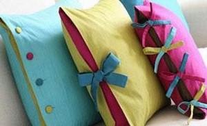 Подушки с бантиками