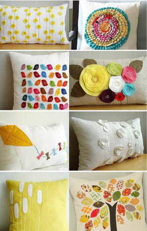 Позитивный декор подушек