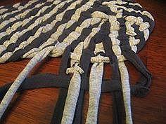 Плетённый коврик