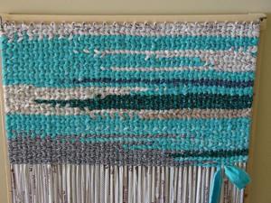 Простой плетённый коврик