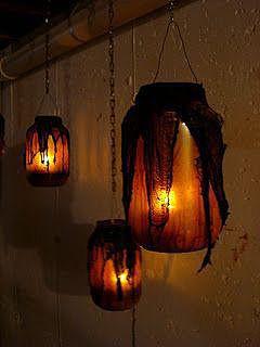 Светильники из стеклянных банок